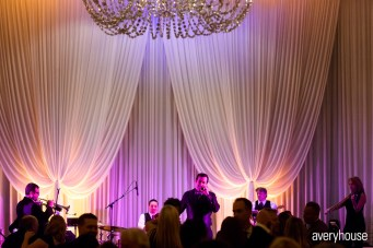 Hotel Intercontinental Wedding Drape and Lighting